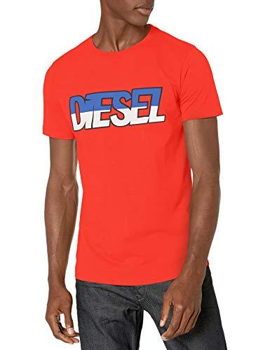 Diesel Men's PARSEN T-Shirt, Fiery Red, X-Large