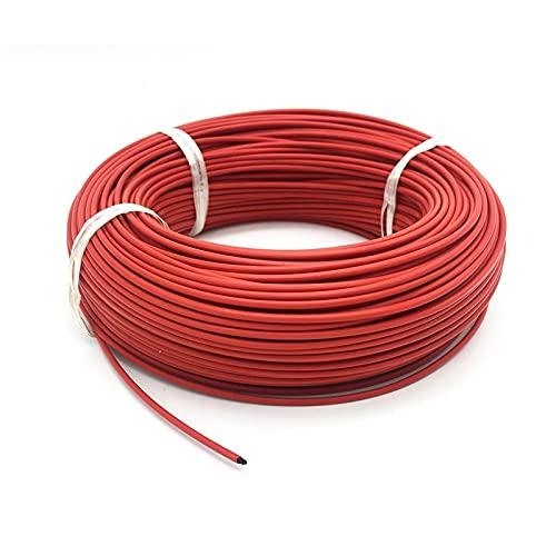DEFTSHEEP 1 UNID 36K 48K Cable de Calentamiento de Fibra de Carbono Infrarrojos fluoroplástica Caucho de Silicona Cálido Calefacción (Color : 100m 48K)