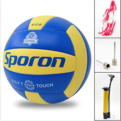 NA Volleyball Soft Touch Volley Ball Standard Size Soft Volleyball Beach Soft Touch Volleyball Outdoor Indoor Beach Gym Game Includes Ball Inflation Needle Style 1