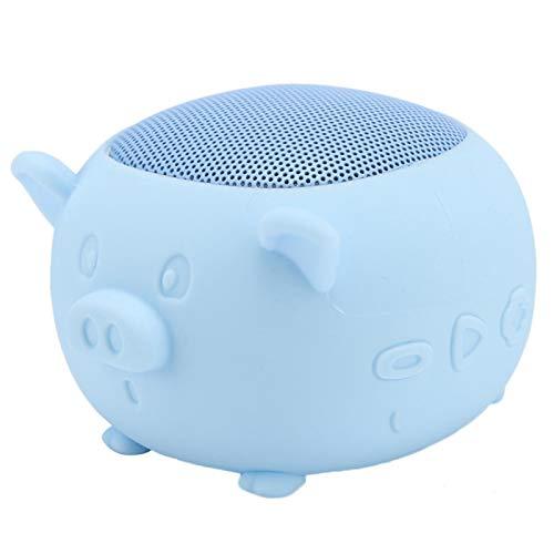 Altavoz, Altavoz Micrófono Incorporado Silicona Lindo portátil para el hogar para Viajar(Blue)