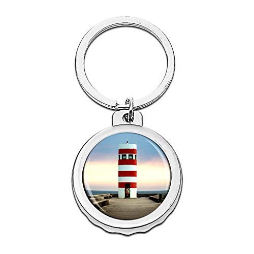 Hqiyaols Keychain Portugal Faro Porto Gorra Abrebotellas Llavero Creativo Cristal Acero Inoxidable Llaveros Viajes Recuerdo