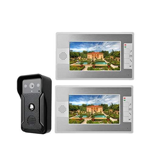DNAMAZ Portero 7'Pantalla de Color Inicio Video Interphone Doorphone Bell Kits Home Families Puerta Acceso Control Intercom Sistemas de intercomunicación automatico (Color : G812QA12)