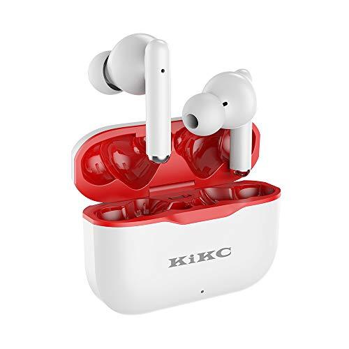 Auriculares Blutetooth, Znines Cascos Estéreo In-Ear Impermeables Bluetooth 5.0 IPX5, Micrófono Incorporado, Carga Rápida USB-C, Control Táctil, Adecuado para Deportes, Fitness y Viajes, Blanco