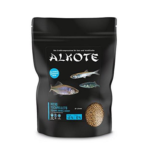 AL-KO-TE, 3-Jahreszeitenfutter, Teichpellets für kleine Teichfische, 1, 5 mm, Micro Teichpellets, 600 g