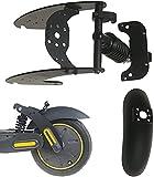 Flycoo - Kit de suspensión de suspensión trasera con guardabarros trasero para patinete eléctrico Ninebot Segway G30 Max