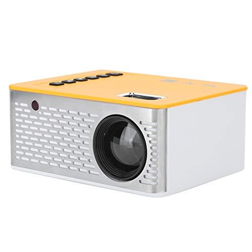 CCYLEZ Proyector doméstico portátil, Mini proyector LED inalámbrico con Pantalla HD Synchronize 1920 x 1080, TV de Pared de Cine Familiar en casa UC28D 5V / 2A