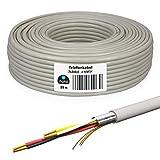 HB-DIGITAL 25 m de cable telefónico 2 x 2 x 0,6 J-Y(ST) Y cable de instalación JYSTY 4 cables telefónicos