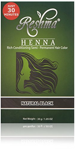 Reshma Beauty 30 Minute Henna Hair Color Pure Natural & Organic Dye with Goodness of Herbs (Natural Black)