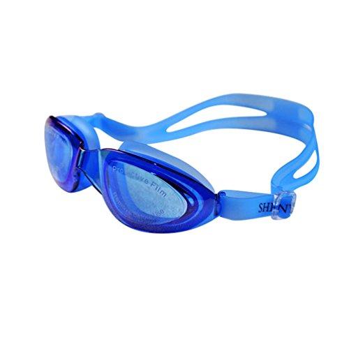 Tookang Unisex Taucherbrille Wasserdicht Anti-Beschlag-Schutzbrille Weiche Textur Leicht Verstellbarer Kopfriemen Verletzt Den Körper Nicht Kommt Mit Brillenetui Transparentes Saphirblau