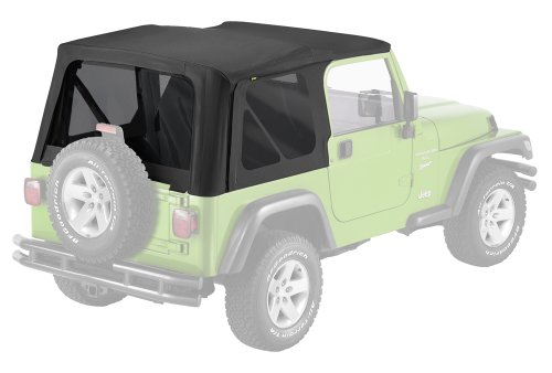 Pavement Ends by Bestop 51148-35 Black Diamond Replay Replacement Soft Top Tinted Windows; No door skins included for 1997-2006 Jeep Wrangler