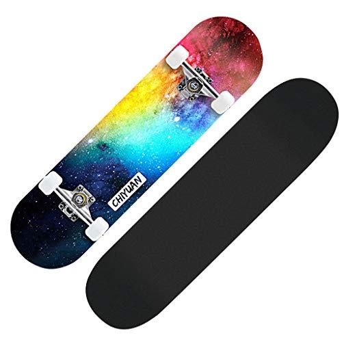 Fahooj Skateboard,Skate Board,Hochgeschwindigkeits-ABEC-9-Lager, 7-lagigem Ahornholz, 95A Rollen, 31