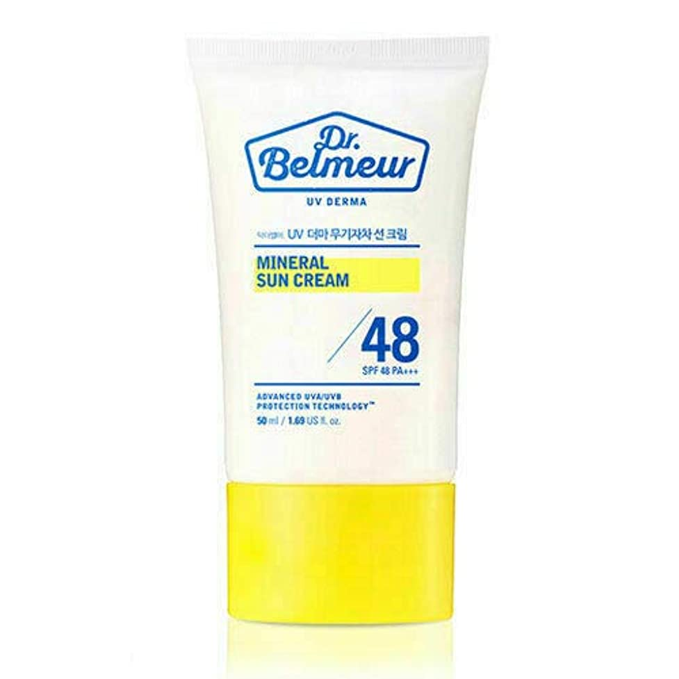 橋脱臼する極小[ザ?フェイスショップ] THE FACE SHOP [ドクターベルモ UVデルマ ミネラル サンクリーム 50ml] (Dr. Belmeur UV Derma Mineral Sun Cream SPF48 PA+++ 50ml) [海外直送品]