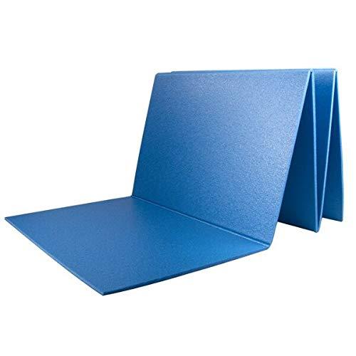 Tappetino Pieghevole Fitness Special Sport Yoga 180x50cm Antiscivolo Blu