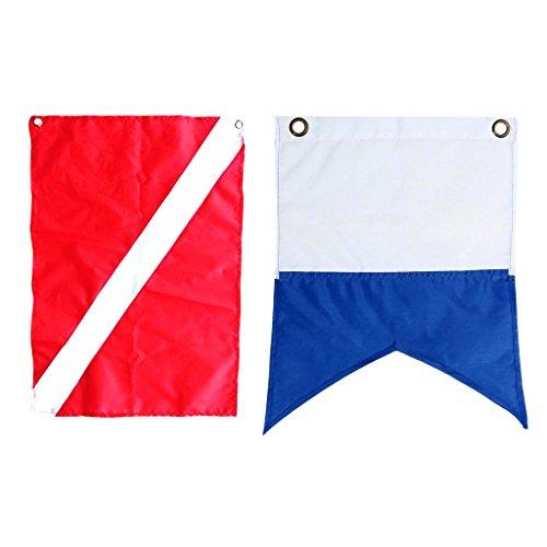 CUTICATE 2 Piezas De Parche Bordado con Bandera De Buzo, Buceo, Banderas De Cabina De Barco De Snorkel
