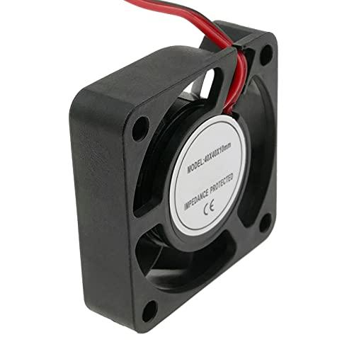 BeMatik - Ventilador de chasis 40x40x10 mm de 5 VDC para caja de ordenador