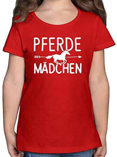 Sprüche Kind - Pferde Mädchen Motiv - 152 (12/13 Jahre) - Rot - sprüche+Pferd - F131K - Mädchen Kinder T-Shirt