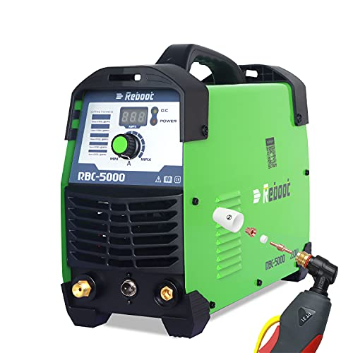 Reboot Cortador de plasma 50A 230V Inversor IGBT Corte limpio Cortador de plasma CUT50 Corte de contacto de 15 mm para láminas de metal pintado y película de óxido