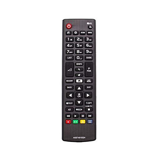 CMDZSW Control Remoto inalámbrico para Smart TV LED LCD TV Controller ABS en Lugar de 433MHz (Color : Black)