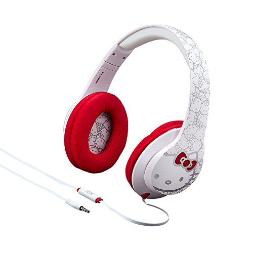 Hello Kitty Over The Ear Headphones with Built in in-line...