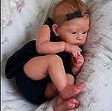 ZXYMUU 23 Pulgadas a Mano Reborn Muñeca, Lavable Reborn Baby Puppet Cuerpo Genuino Soft Newborn Doll To Kids Regalo Juguete