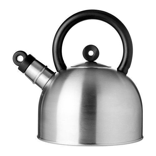IKEA VATTENTAT - Kettle stainless steel black - 2 l