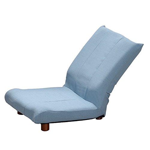 ZHANGRONG- Petit canapé unique canapé chaise paresseux chaise de lecture pliable petit appartement chaise adapté à la maison ou au bureau, design élégant -Tabouret de canapé (Couleur : Bleu)