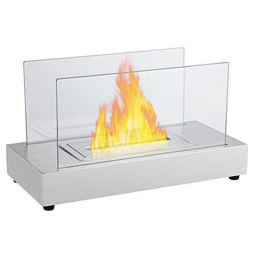 ガレージ・ゼロ(Garage Zero) バイオエタノール暖炉 2層バーナー/屋内・屋外両用 GZIT05 長方形 ステンレス