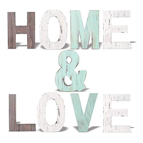 Timagebreze Letra de DecoracióN del Hogar Home & Love Accesorios de Letras...