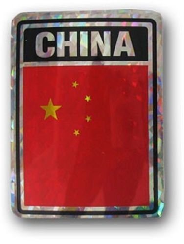 RFCO China Country Flag Reflective Decal Bumper Sticker Best Garden Outdor Decor Polyester Material Flag Premium Vivid Color and UV Fade Resistant