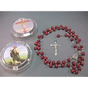 "Women's 22"" JERUSALEM Red Rose Smell Scented Olive Wooden Rosary Beads Cross Necklace / Wood Crucifix Chain Pendant Prayer Holy Praying Pray Unique Beautiful Long Fashion Jewelry Bracelet Jesus Beaded Christianity altar vestment tabernacle monstrance religious chasuble catholic jesus thurible infant of prague orthodox santos Lot cassock stole censer ciborium cope shrine st michael pyx holy water religious medals stations of the cross sacred heart fatima mary surplice alb missal saint michael triptych lourdes olive wood mitre pocket shrine agnus dei holy family relic document black madonna pope francis sick call paten theca Christianity st anthony medal pieta chalkware bishop pall guadalupe reliquary paraments jude prayerbook praying hands nun doll joan of arc blessed santos crown angel statue st george vintage bible lampada christian jewelry risen christ daprato magdalene milagro Rosery last supper breviary:Marocannonce"