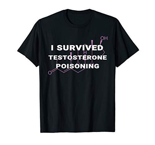 I Survived Testosterone Poisoning LGBTQ Trans Pride Shirt