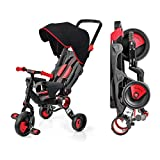 Galileo with Deluxe Canopy - 3 in 1 Stroller Tricycle - No Assembly Required - Red