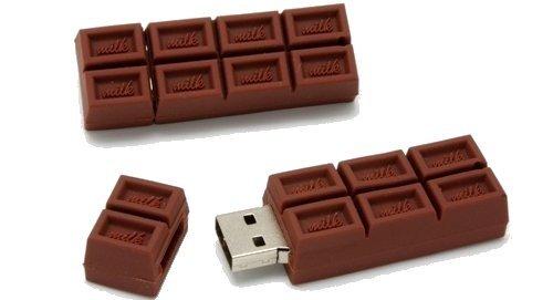 Cioccolato Marrone 8 GB - Chocolate Brown - Chiavetta Pendrive - Memoria Archiviazione dei Dati - USB Flash Pen Drive Memory Stick