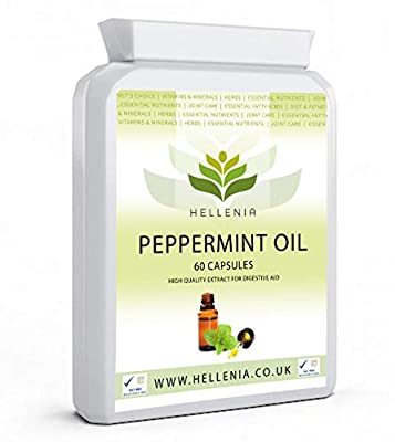 Hellenia Peppermint Oil 50mg - 90 Capsules - for Digestive Health