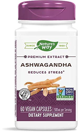 Natures Way Ashwagandha Standardized Extract (60 Vcaps) ( 2 PACK )
