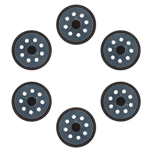 Andifany 6 paket 8 hål krok och ögla slipplatta standard ersättning krok och ögla slipmaskin dyna passar de flesta spår slumpmässig slipmaskin