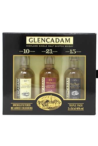 GLENCADAM Highland Single Malt Whisky Triple Pack 3 x 0,05 Liter