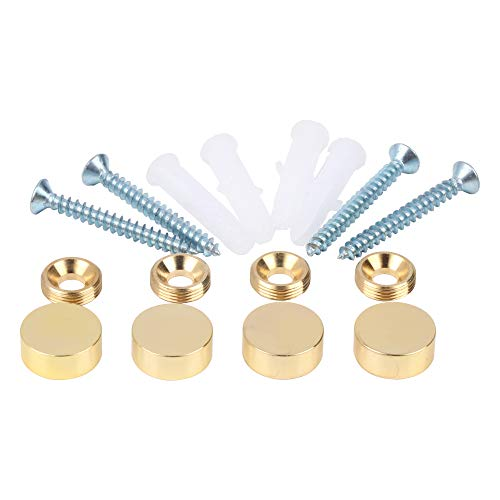 Mirror Screws, Brass Cap Decorative Mirror Nails, 0.6