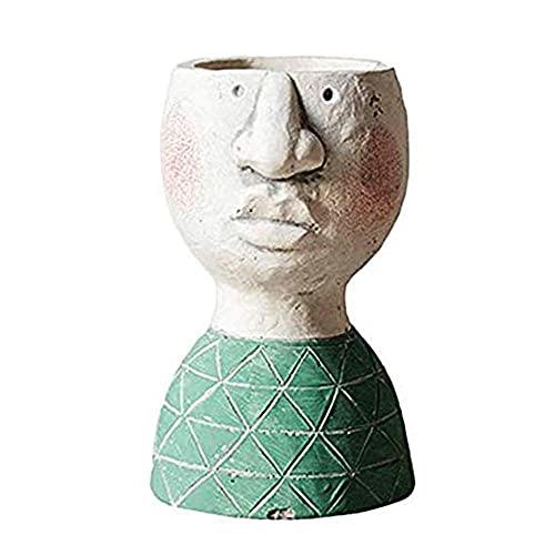 LXM Portret rzeźba doniczka na kwiaty, Happy Nest doniczka sztuka roślina balkon ozdoby ogrodowe, wazon przechowywanie aranżacja dekoracji domu butelka (rozmiar: mały)