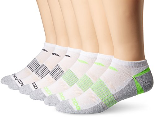 Saucony Men's Triangle 6 Pairs Performance Low-Cut Socks, White, Shoe Size: 8-12