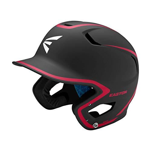 EASTON Z5 2.0 Baseball Batting Helmet, Senior, Matte Black Red