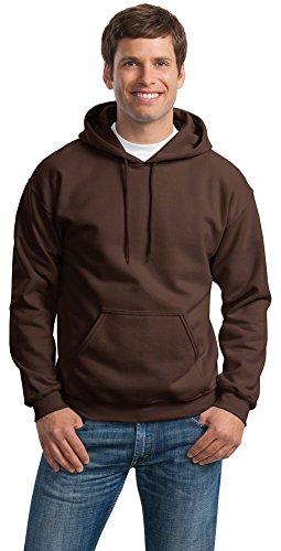 Gildan Mens Heavy Blend Hooded Sweatshirt, XL, Dark Chocolate