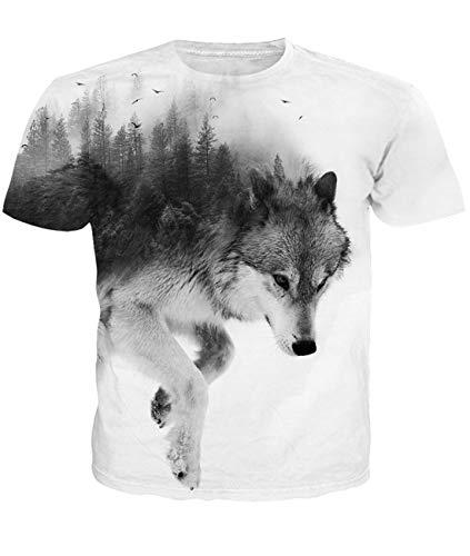 Fanient Herren Damen Aufdruck T-Shirt Rundhals Tee S M L XL XXL, Bunten Rauch, L