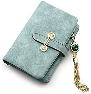 mostyle blue fashion multi card slot leather zipper long wallet purse for women CKQB2