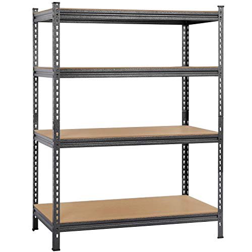 Topeakmart Heavy Duty 4 Level Garage Shelf Steel Metal Storage Adjustable Shelves Unit 59' H x 44' W x 23.6' Deep