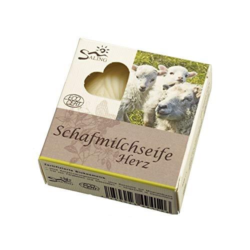 Savon au lait de brebis - coeur blanc 65g