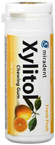 Miradent Xylitol Kaugummi Frische Früchte 30 Stück, 4er Pack (4 x 30 g)