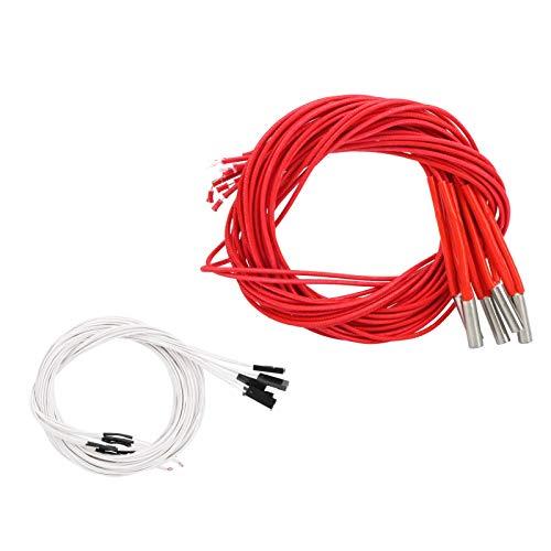 Calentador eléctrico individual de 6x20 mm / 0.2x0.9in con tubo de calentamiento...
