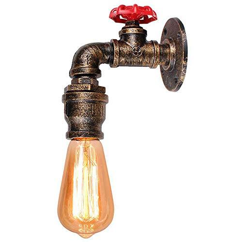 Mengjay Tubos Americano Retro Industrial Ligero de la Pared E27 Edison Pared Vintage Aplique el Agua del Grifo lámpara de Pared de Steampunk Entrada Pasillos Escaleras Creativa Restaurante Bar (B)