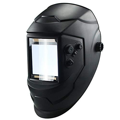 SYN Casco de Soldadura con 4 Arcos, Funciona con energía Solar, oscurecimiento automático, Parasol Profesional con Lente Amplia, Tapa de máscara de Soldadura